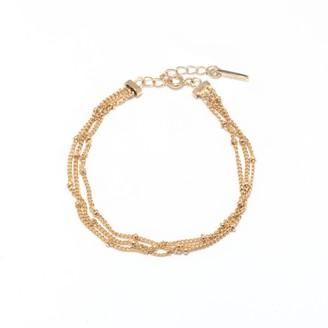 Coco Mango Jewellery Luxe Vita 18K Gold Triple Row Beaded Bracelet