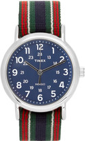 Timex - Weekender Stainless Steel And Webbing Watch