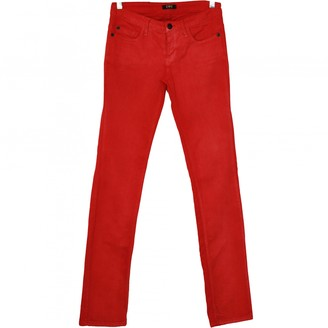 CNC Costume National Red Cotton Jeans for Women