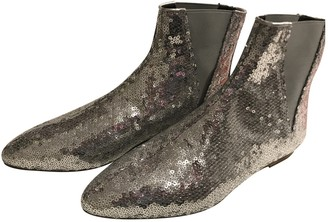 Loewe \N Silver Glitter Ankle boots