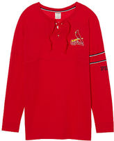 PINK St. Louis Cardinals Bling Lace-up Varsity Crew