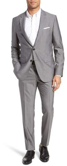 BOSS Novan/Ben Trim Fit Solid Wool Suit