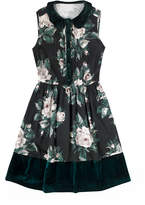 Cath Kidston Devonshire Rose Dress with Velvet Collar