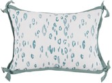 The Well Appointed House Blue Leopard Outdoor Lumbar Pillow with Teal Green Trim