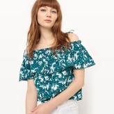 Suncoo Printed Collarless T-Shirt
