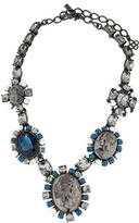 Oscar de la Renta Crystal Cameo Statement Necklace