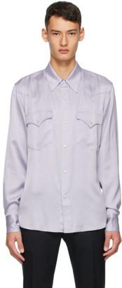 Dries Van Noten Purple Ballroom Shirt