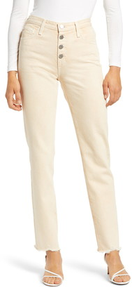 AG Jeans The Isabelle Women's High Waist Raw Hem Straight Leg Jeans