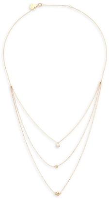 ginette_ny Diamond & 18K Rose Gold Multi-Strand Necklace