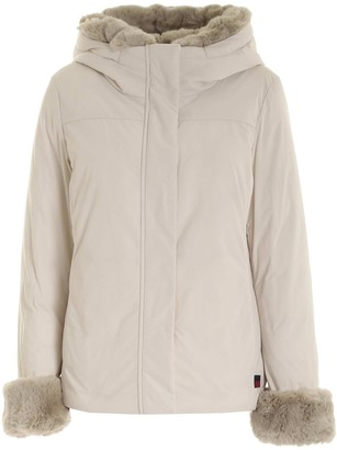Woolrich Faux Fur-Trim Hooded Padded Jacket