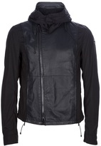 Emporio Armani hooded asymmetric zip jacket