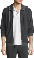 Orlebar Brown Caden Mélange Classic-Fit Toweling Hoodie, Fossil