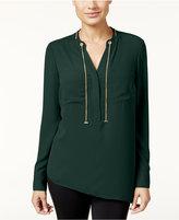 Thalia Sodi Chain-Tie Asymmetrical Blouse, Only at Macy's