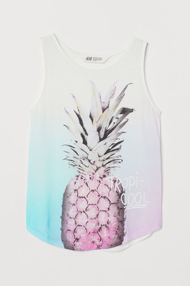 H&M Printed Tank Top - White