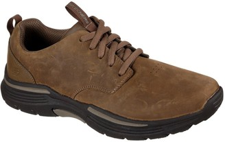 Skechers Expended Leather Shoes - Brown