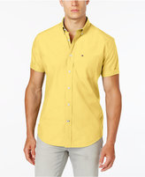 Yellow Button Down Short Sleeve Shirt - ShopStyle