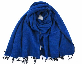 "Cool Trade Winds SUPER SOFT - SOFT AND COSY YAK"" SHAWL THE ORIGINAL OVERSIZED BLANKET SCARF: a luxurious 190cm x 85cm in size (Peacock Blue)"
