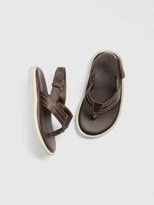Gap Toddler Faux-Leather Flip Flops