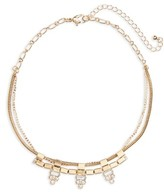 BP Women's Three-Prong Crystal Necklace