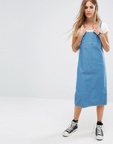 Reclaimed Vintage Reclaimed Vintange Strappy Mid Dress In Light Denim