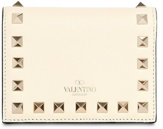 Valentino ROCKSTUD EMBELLISHED LEATHER WALLET
