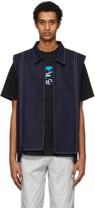 Afterhomework Navy Sleeveless Vest