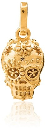 Tane Exquisitely Detailed Sugar Skull Charm In 18K Gold