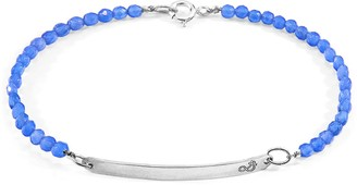 Anchor & Crew Blue Agate Purity Silver & Stone Bracelet