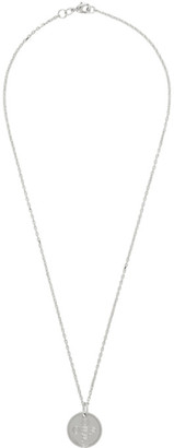 Off-White Silver Small Logo Cross Necklace