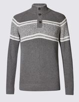 Marks and Spencer Pure Cotton Sport Block Striped Jumper