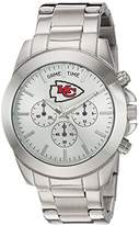 Game Time Women's 'Knock-Out' Quartz Stainless Steel Quartz Analog Watch, Color:Silver-Toned (Model: NFL-TBY-KC)