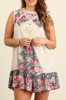 Umgee USA Sleeveless Floral Dress