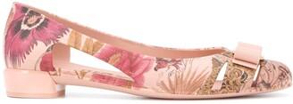 Salvatore Ferragamo floral print Vara ballerina shoes