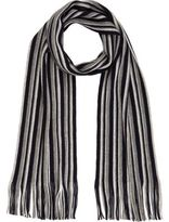 River Island MensBlue striped tasselled scarf