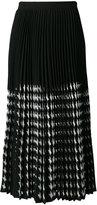 MSGM midi pleated skirt
