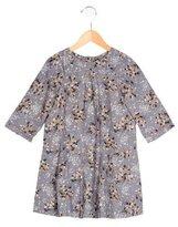 Bonpoint Girls' Floral Print Pleated Dress