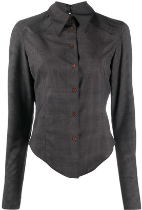 Charlotte Knowles Check Button-Up Shirt