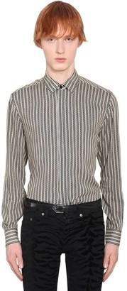 Saint Laurent Striped Viscose Shirt