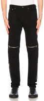 Givenchy Distressed Biker Jeans in Black.