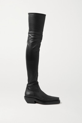 Bottega Veneta Leather Over-the-knee Boots - Black
