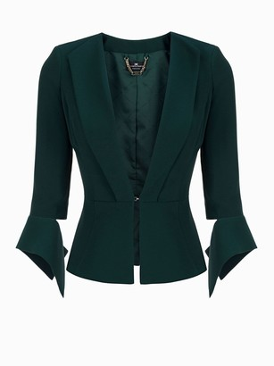 Elisabetta Franchi Celyn B. Green Bottle Jacket Suits And Blazer