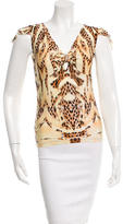 Roberto Cavalli Sleeveless Cheetah Print Top