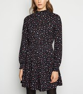 New Look Floral Shirred Mini Smock Dress