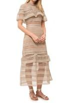 Self-Portrait Yoke Frill Midi Dress