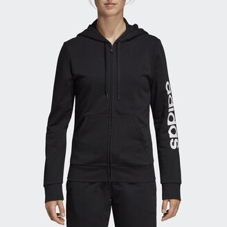adidas Essentials DP2401 Zip-Up Hoodie in Cotton/Recycled Polyester Mix