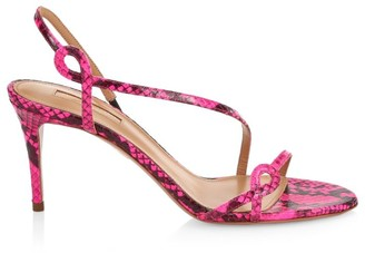Aquazzura Serpentine Snakeskin Sandals