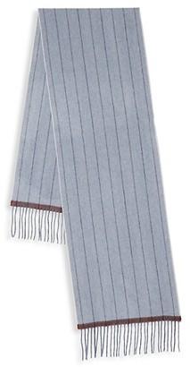 Saks Fifth Avenue Pinstripe Cashmere Scarf