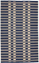Rejuvenation Vista Ladder Stripe Indoor/Outdoor Rug - Blue