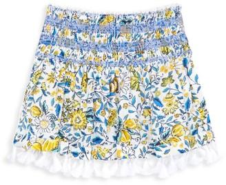 Poupette St Barth Little Girl's & Girl's Mara Smocked Mini Skirt