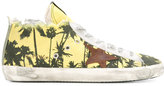 Golden Goose Deluxe Brand palm tree print hi-top sneakers - men - Cotton/Leather/Canvas/rubber - 43